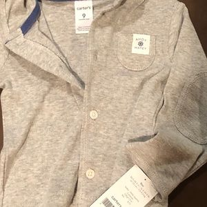 Other - New with tags. Carter's buttoned up hoodie.